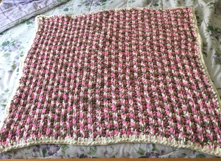 Excited to share the latest addition to my #etsy shop: Crochet Baby Blanket Afghan Toddler Blanket 39x37 #softandcozy #baby #bernatbabyblanket #babygift