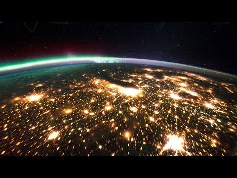 Earth at night seen from space ISS (HD 1080p) ORIGINAL - YouTube