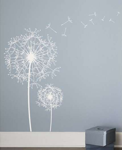 Slaapkamerdeur Decoratie : Dandelion Wall Decal
