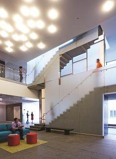 Reinvented student work area, studying just got more interesting #modern #interiordesign #education #school http://www.bistaples.ca/en/how-we-work/17-go2-book