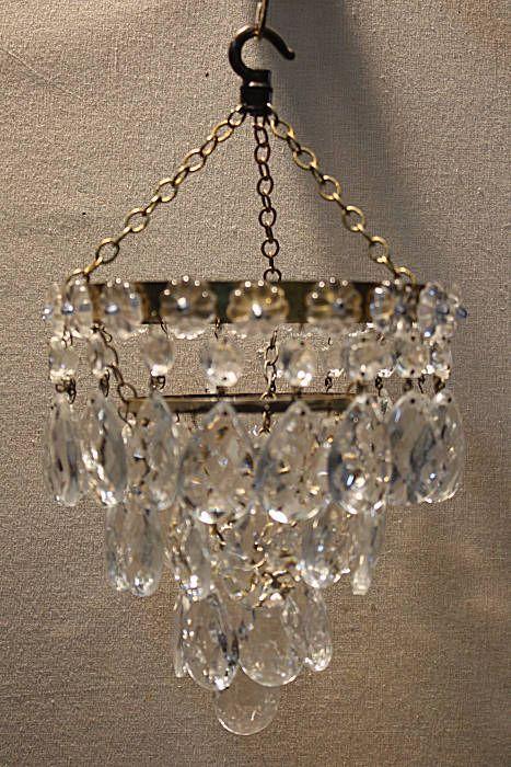 Circa 1930 almond drop chandelier