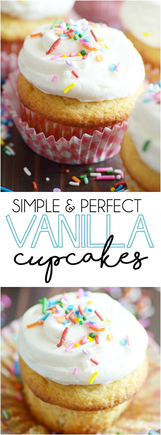 Classic Vanilla Cupcakes Are My Favorite! And You'll Be Surprised How Easy  They