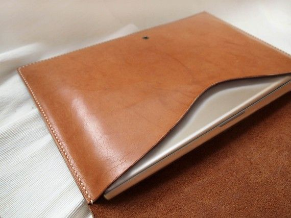 Personalized 13 Macbook Pro / Macbook Air Case  Leather  by harlex, $142.00