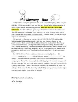 This freebie is the directions for a follow-up to our reading of the book Wilfrid Gordon McDonald Partridge. After reading the book, Wilfrid Gordon...