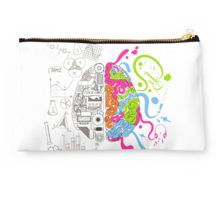 Nerdy Brain Creativity Design by Gordon White | RedBubble White Studio Pouch Available @redbubble
