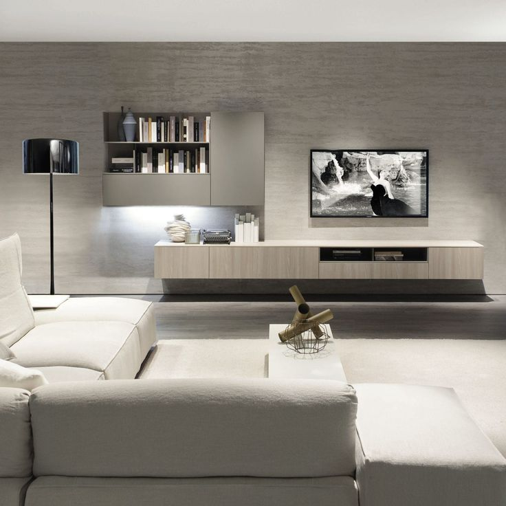 tv wall unit elm melamine z409 zalf