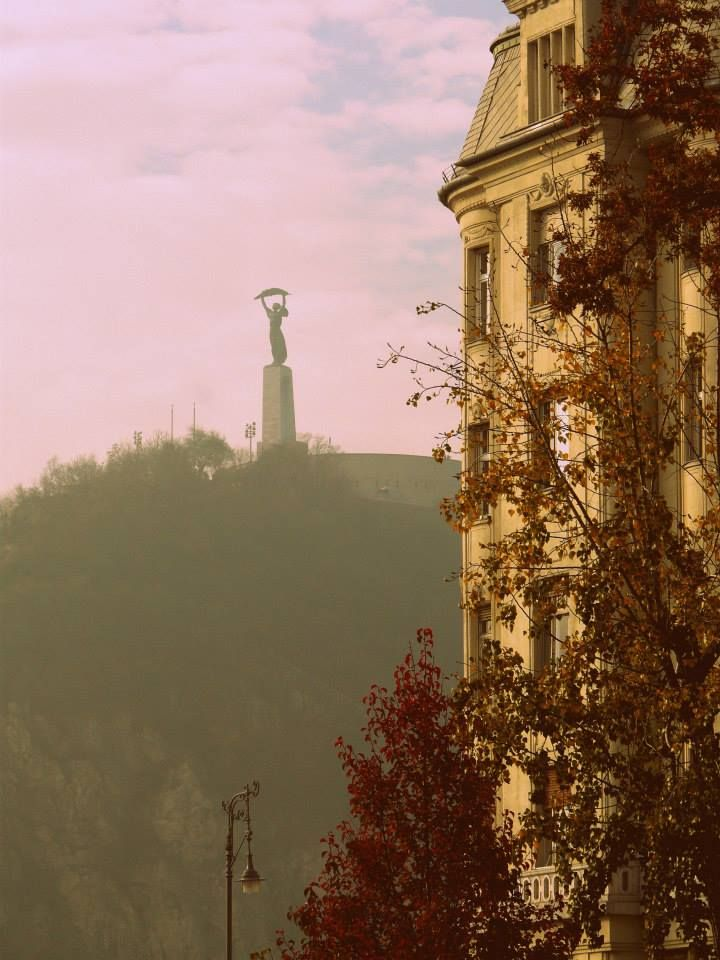 Budapest, Gellért hill with the Statue of Liberty