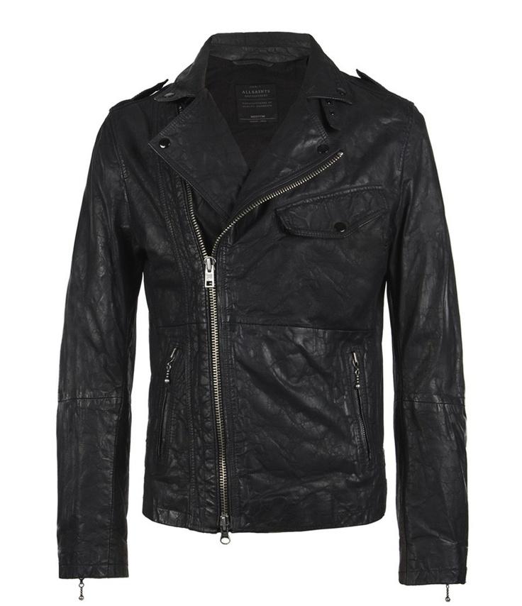 Standen Leather Jacket, Men, Leathers, AllSaints Spitalfields