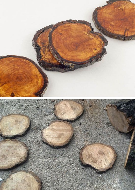 DIY Rustic Coasters | 27 DIY Rustic Decor Ideas for the Home | DIY Rustic Home Decorating on a Budget