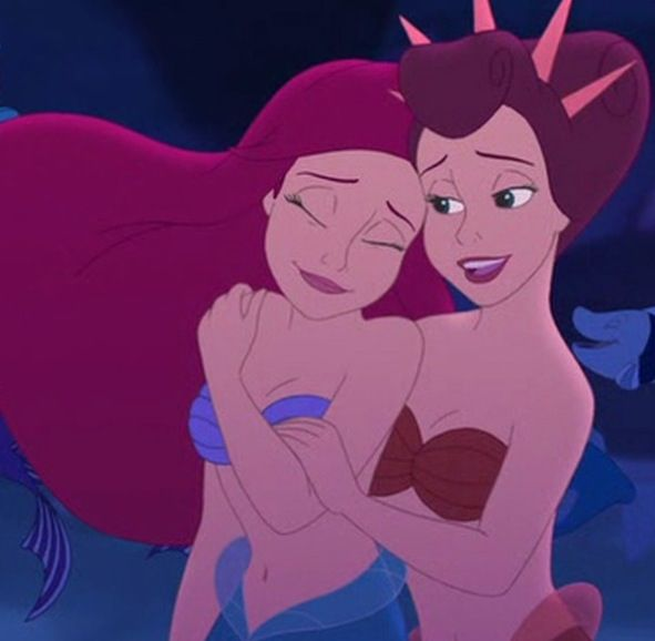 *ARIEL & (sister) ANITA ~ THE LITTLE MERMAID, 1989