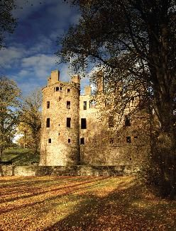 Huntly Castle, Aberdeenshire, Scotland, seat of the Gordon family, built in 1602