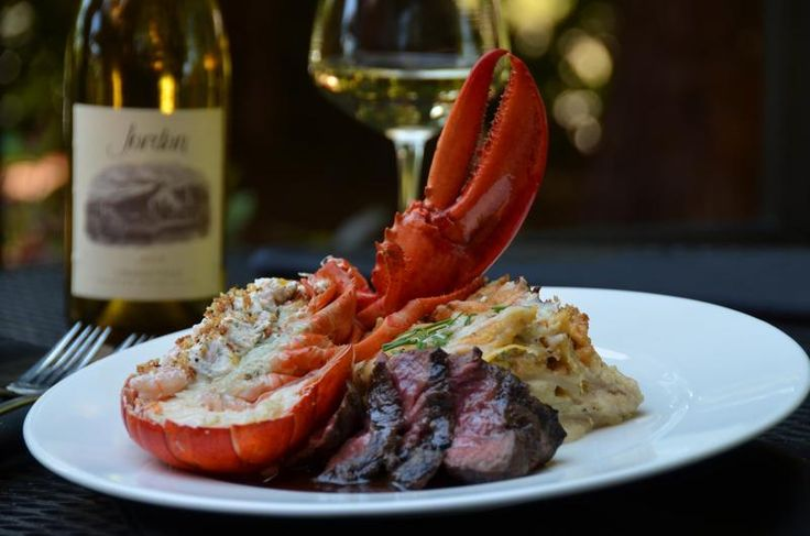Tender Flat Iron Steak With Half A Shrimp-Stuffed Lobster at Stanford's Restaurant & Bar in Seattle Southside