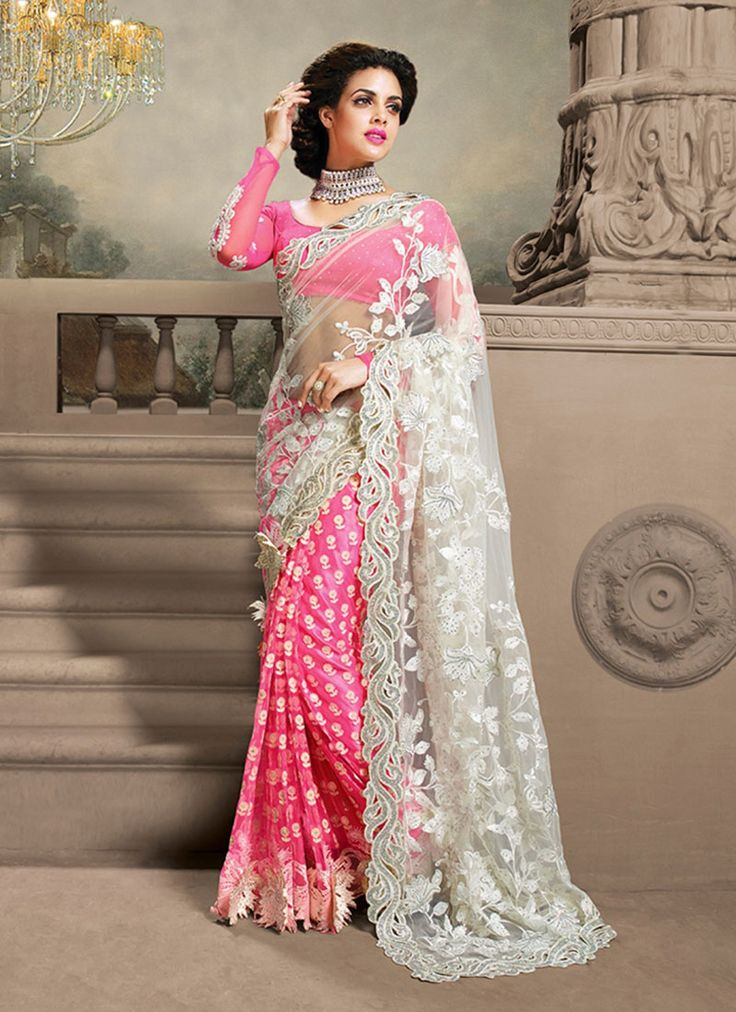 astonishing net saree collection for stylish ladies by