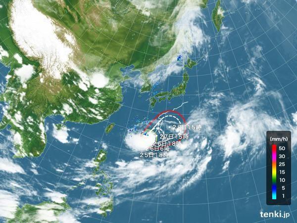 台風情報・日本広域(2016年8月25日 18時現在)