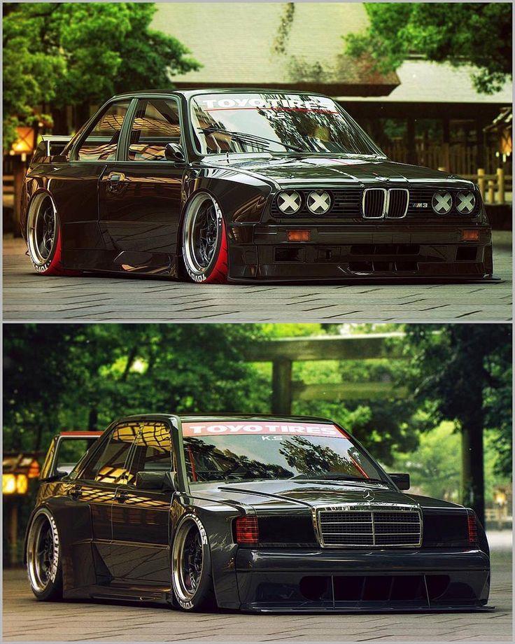 BMW E30 vs Mercedes 190 Evo! Top or bottom? | Design by @the_kyza | #blacklist #mercedes #190e #evo #dtm #bmw #e30