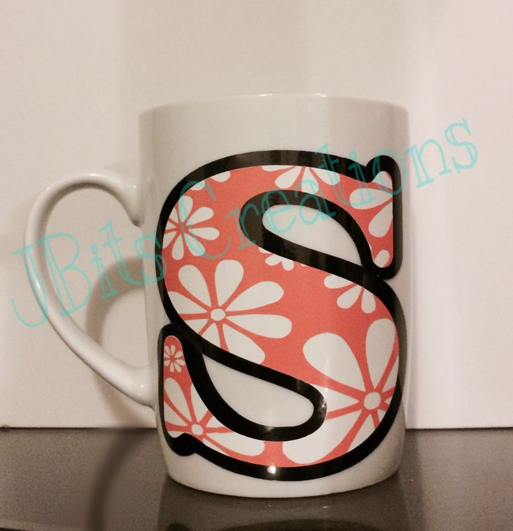 Daisy initial Mug, custom mug, custom cups, initial cups, personalized gifts, daisy letter mug, personalized mugs, cute mugs, cute cups by JBitsCreations on Etsy https://www.etsy.com/listing/269775071/daisy-initial-mug-custom-mug-custom-cups