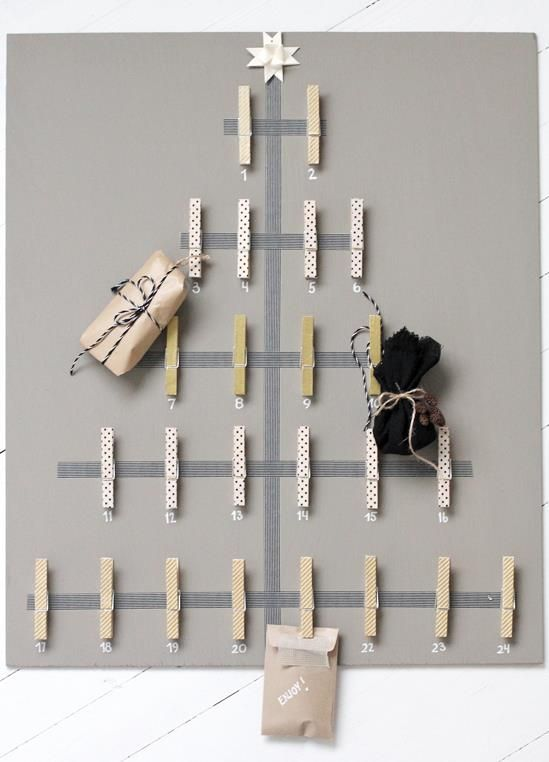 Clothespin Christmas Tree Decor