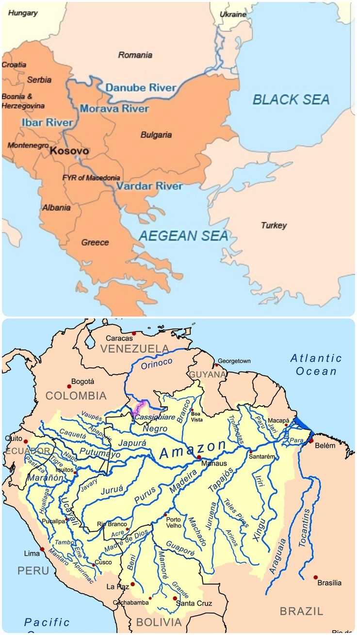 129 best rivers and river maps images on pinterest geography nerodimja kosovo and casiquiare brazil the only 2 river bifurcations naturally flowing into 2 seas dividing into 2 irreversible branches sciox Images