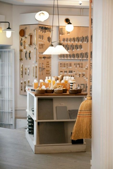 Byggfabriken Stockholm store... What a lil gems store could be like. Stark colors, but bling will be all over the walls!