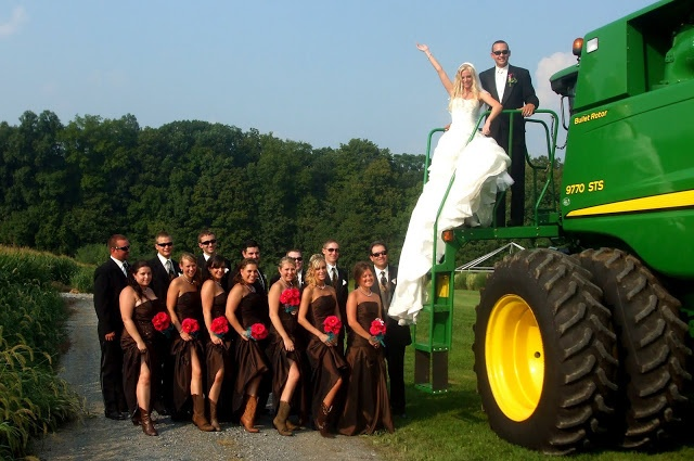 john deere wedding pic