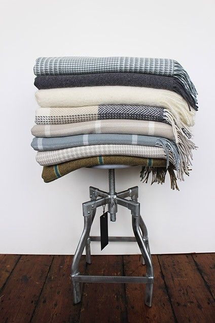 Foxford Woollen Blankets. Foxford woollen mills were established in 1892 by the Irish Sisters of Charity. Their objective was to provide the means whereby local people could earn a livelihood.  100% Lambs Wool. Dry Clean only. Measures 147 x 178cm. We have a variety of products in this range.
