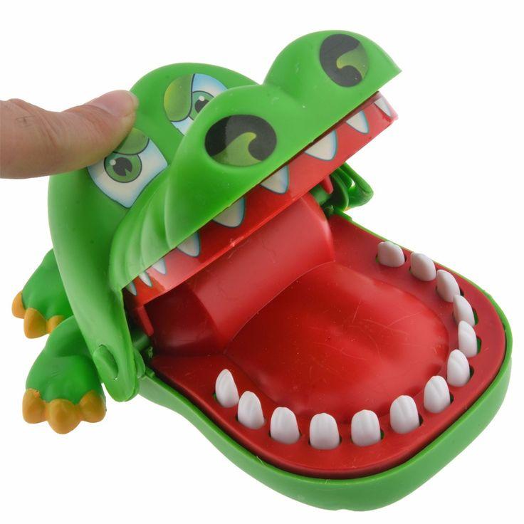 Surwish Hot Sale Crocodile Dentist Bite Finger Game Funny Toys for Kids Baby Children