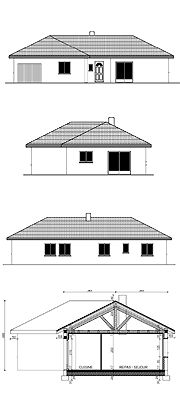 Plans de façades a l'échelle pour permis de construire
