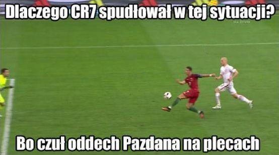 Dlaczego Cristiano Ronaldo spudłował w tej sytuacji? • Memy po meczu Polska Portugalia • Ronaldo czuł oddech Pazdana na plecach >> #pol #polska #memy #pilkanozna