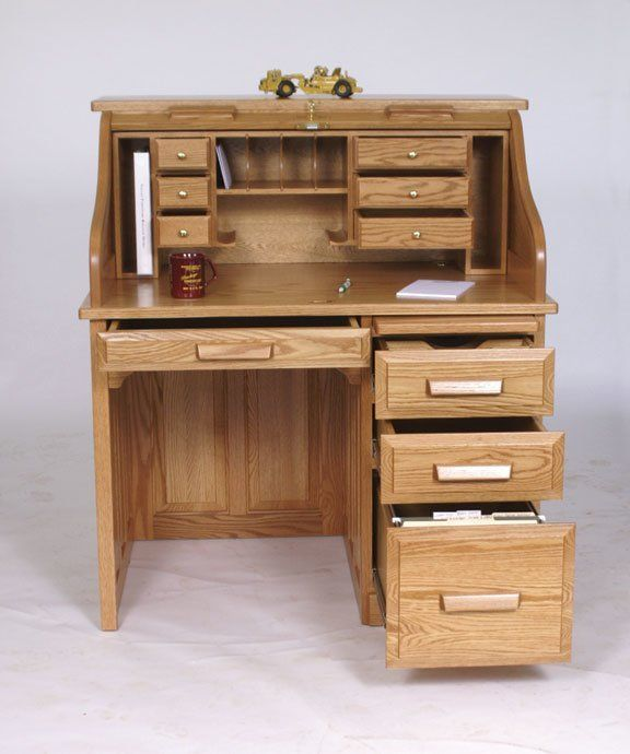 Amish 42 Standard Roll Top Desk Holmes Office Collection This Solid Wood Roll Top Desk Will Add Elegant Appeal Roll Top Desk Woodworking Desk Plans Furniture