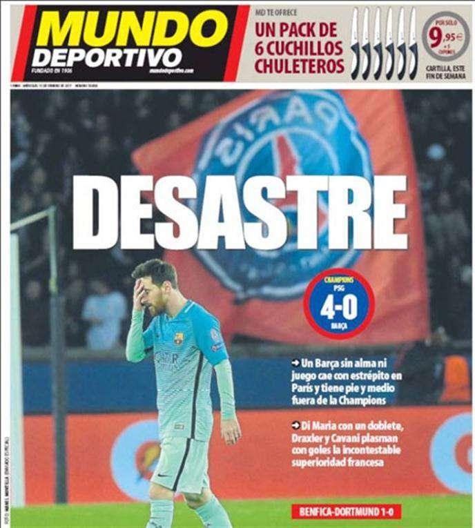 Tapa del diario Mundo Deportivo