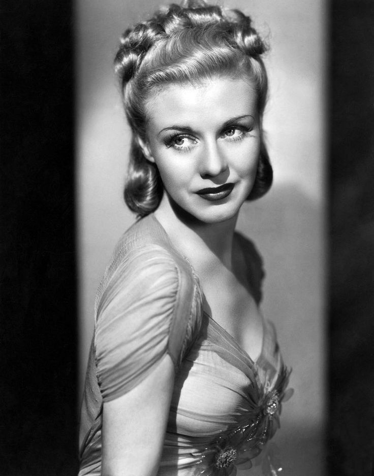Ginger Rogers... But mainly when she's dancing with Fred Astaire!