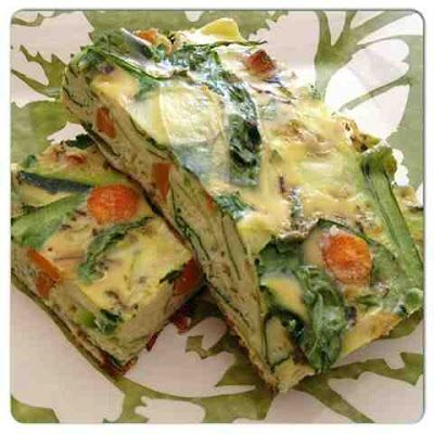 Paleo Vegetarian Quiche. Less than 100 calories per serving and packed with 10g of protein! Low cal, low carb, and high protein healthy breakfast recipe!