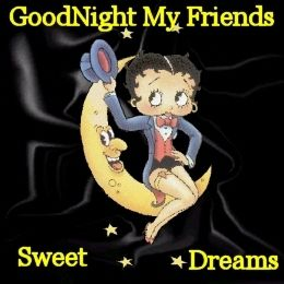 betty boop good evening quotes and pics | Betty Boop good Night Friends