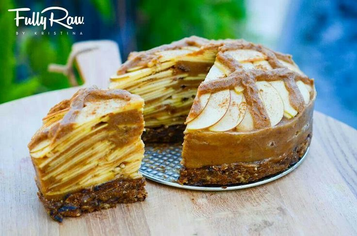 Fully raw apple pie by Fully Raw Kristina.... this pie is (surprisingly) as good as it looks! I got the chance to make it and it is totally worth it! It's 5 simple ingredients, apples, dates, figs, cinnamon, and nutmeg! Check it out!