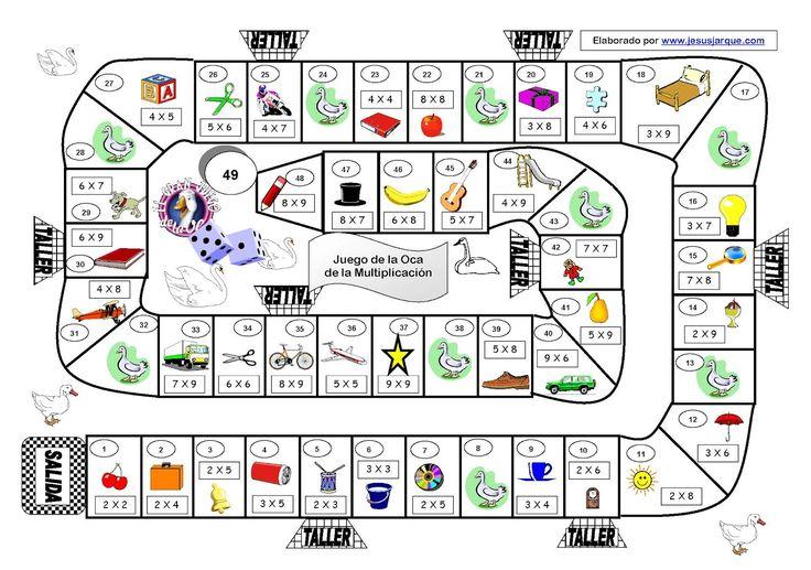 EL MARAVILLOSO MUNDO DE LA AUDICIÓN Y EL LENGUAJE: Aprende las tablas de multiplicar con este Juego de la Oca de Jesús Jarque