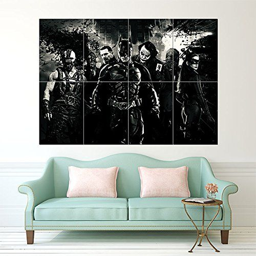 BATMAN BEGINS MOVIE ART Glossy Photographic Paper Giant Wall Art Print  Poster, Large Wall Décor