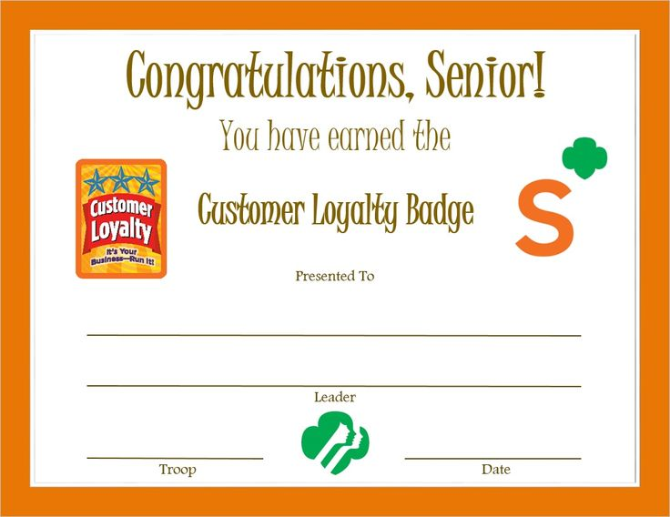 38 best Senior certificates images on Pinterest Girl scout - award thank you letter