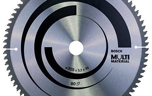 Bosch 2608640503 Lame de scie circulaire Multi Material: Une lame polyvalente permettant le sciage rapide propre des matériaux plus divers.…