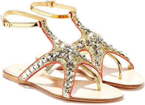 Miu Miu's Starfish Sandals.