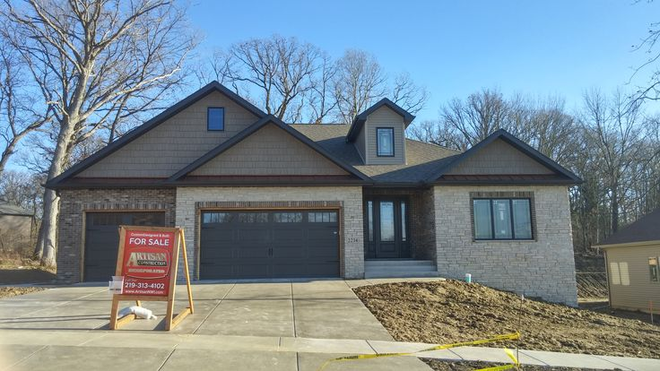 #StyleCraft has installed #siding #fascia #soffit and #gutters on this new construction home in the Copper Creek subdivision in the City of Crown Point in Indiana  #exterior #remodel #installation #newconstruction #home