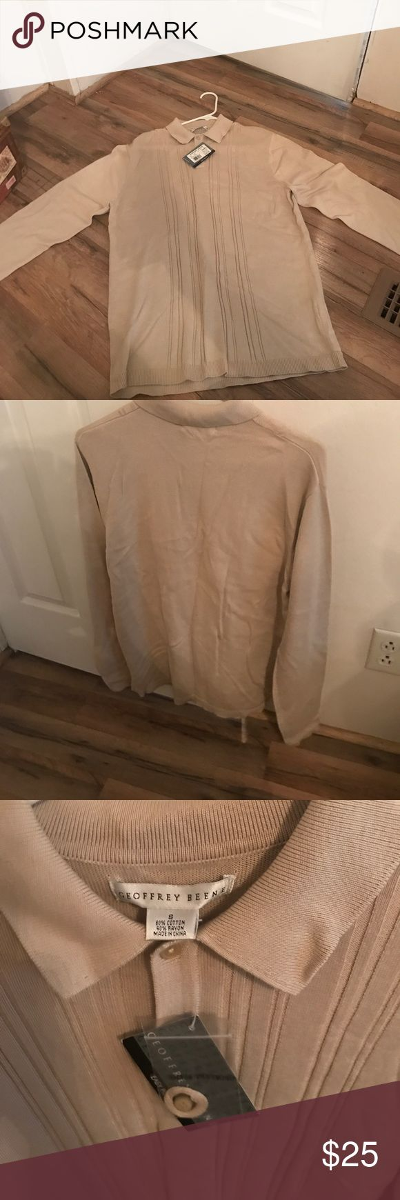 Geoffrey Beene colored shirt Never been worn very light size small 60% 40% rayon Geoffrey Beene Shirts Polos