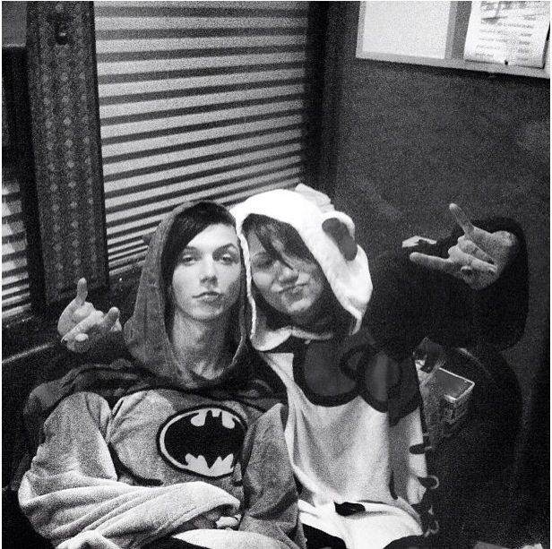 Andy Biersack and Ashley Purdy and Andley and Batman and Hello Kitty