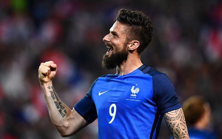 Download imagens Olivier Giroud, estrelas do futebol, MA, futebol, jogadores de futebol