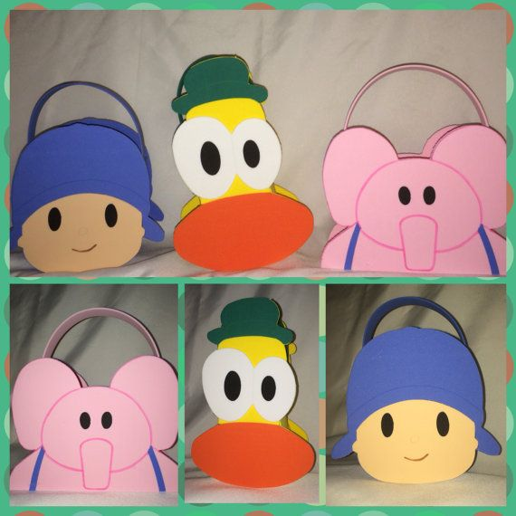 pocoyo inspired party bags favors pato elly by titaspartycreations