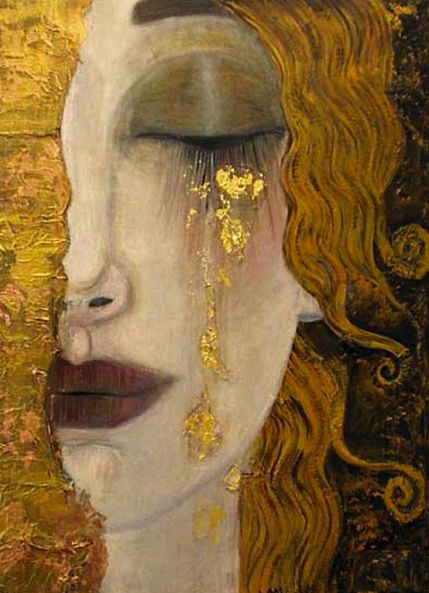 Anne Marie Silberman | Larme d'or    (Note: this is not a Klimt as noted in the info above.)