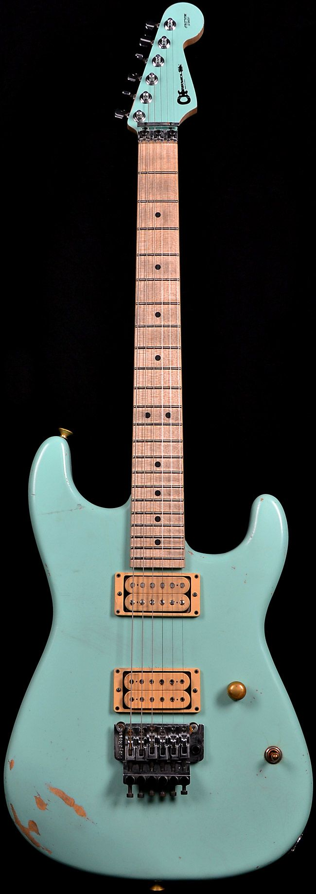 Wild West Guitars : Charvel Custom Shop San Dimas TORTURED Faded Surf Green Magna