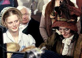 Pride and Prejudice (1995.) Emilia Fox (left) and Anna Chancellor; photo and hats by Melbourne milliner Louise Macdonald