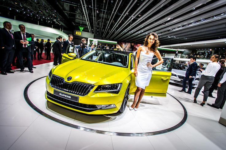 Gold sand tones of The New ŠKODA Superb #newskodasuperb #skoda #superb #genevamotorshow #geneva2015