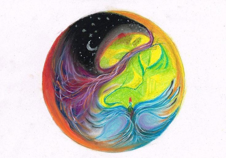 Dream mandala - Pastel drawing