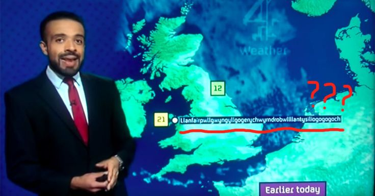 Channel 4 weatherman Liam Dutton pronounced Europe's longest place name during a routine weather report.